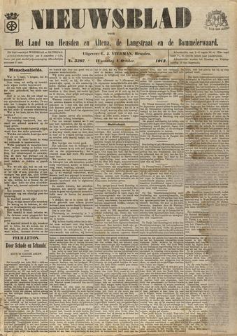 Nieuwsblad het land van Heusden en Altena de Langstraat en de Bommelerwaard 1913-10-01
