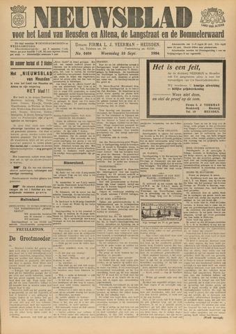 Nieuwsblad het land van Heusden en Altena de Langstraat en de Bommelerwaard 1934-09-12