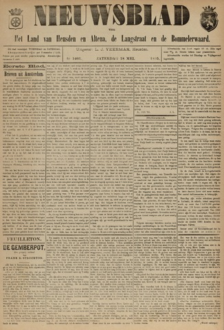 Nieuwsblad het land van Heusden en Altena de Langstraat en de Bommelerwaard 1895-04-18