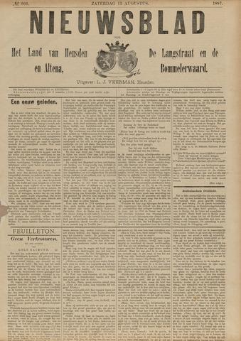 Nieuwsblad het land van Heusden en Altena de Langstraat en de Bommelerwaard 1887-08-13