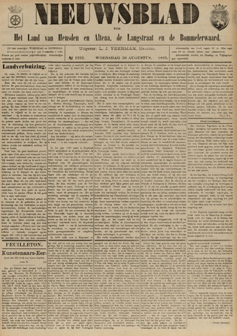 Nieuwsblad het land van Heusden en Altena de Langstraat en de Bommelerwaard 1893-08-30