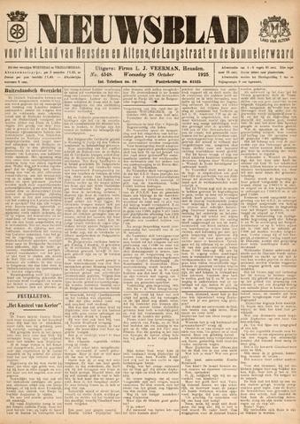 Nieuwsblad het land van Heusden en Altena de Langstraat en de Bommelerwaard 1925-10-28