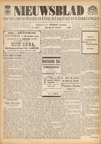 Nieuwsblad het land van Heusden en Altena de Langstraat en de Bommelerwaard 1922-01-21