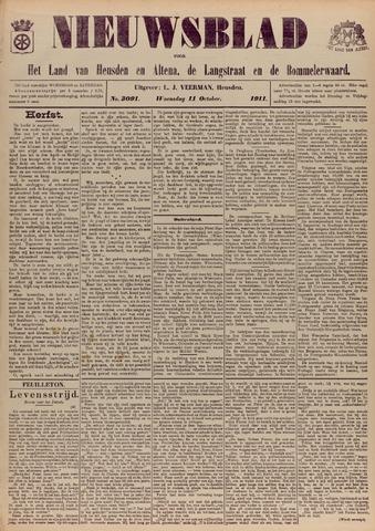 Nieuwsblad het land van Heusden en Altena de Langstraat en de Bommelerwaard 1911-10-11