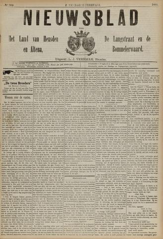 Nieuwsblad het land van Heusden en Altena de Langstraat en de Bommelerwaard 1891-02-21