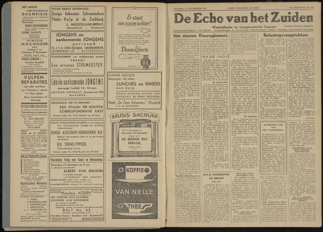 Echo van het Zuiden 1947-11-11