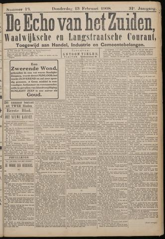 Echo van het Zuiden 1908-02-13