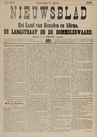 Nieuwsblad het land van Heusden en Altena de Langstraat en de Bommelerwaard 1887-04-09