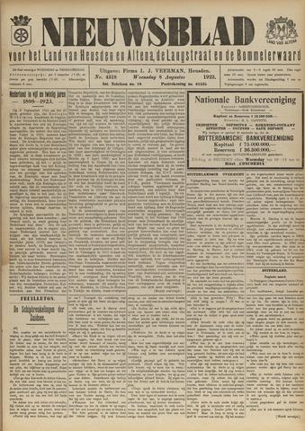 Nieuwsblad het land van Heusden en Altena de Langstraat en de Bommelerwaard 1923-08-08