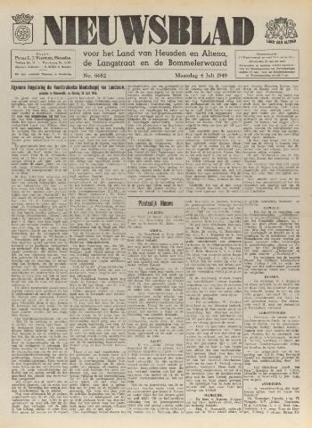 Nieuwsblad het land van Heusden en Altena de Langstraat en de Bommelerwaard 1949-07-04