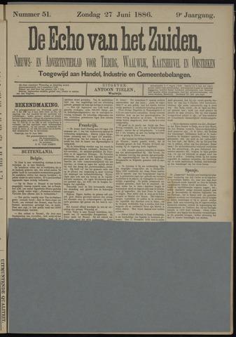 Echo van het Zuiden 1886-06-27