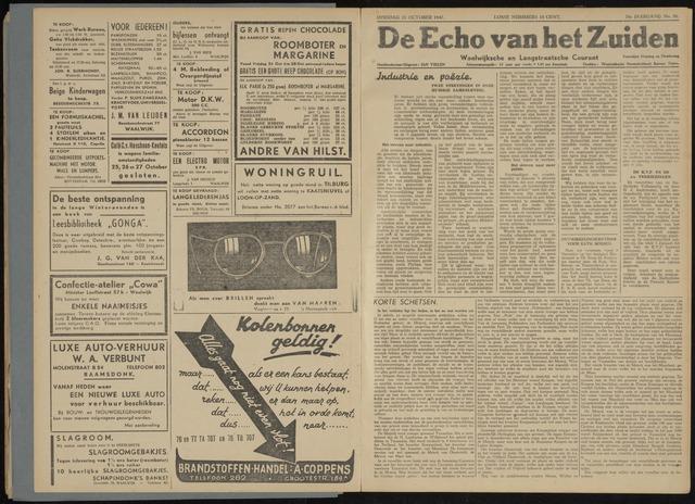 Echo van het Zuiden 1947-10-28