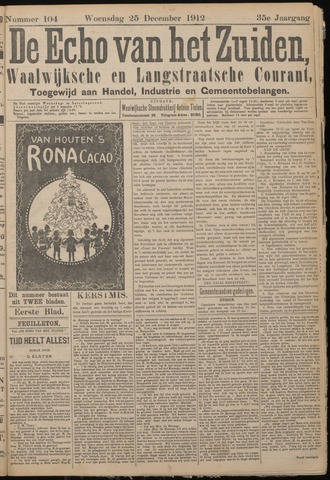 Echo van het Zuiden 1912-12-25
