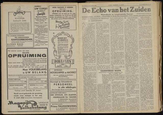 Echo van het Zuiden 1948-01-27