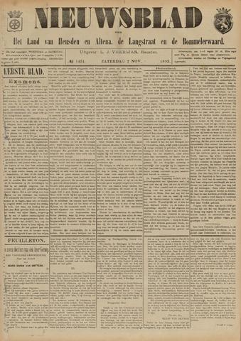 Nieuwsblad het land van Heusden en Altena de Langstraat en de Bommelerwaard 1895-11-02