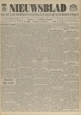Nieuwsblad het land van Heusden en Altena de Langstraat en de Bommelerwaard 1920-11-10