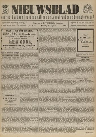 Nieuwsblad het land van Heusden en Altena de Langstraat en de Bommelerwaard 1921-08-06
