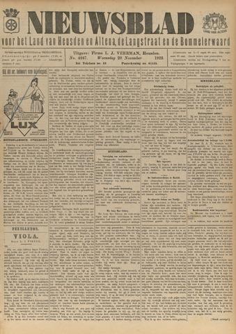 Nieuwsblad het land van Heusden en Altena de Langstraat en de Bommelerwaard 1922-11-29