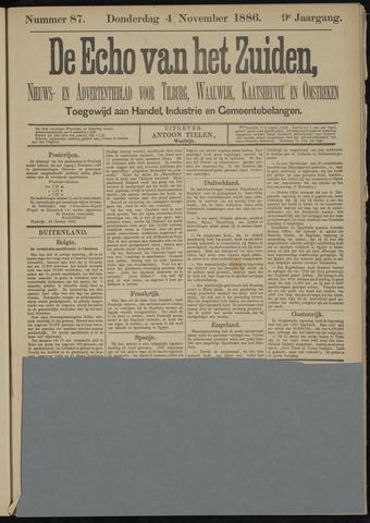 Echo van het Zuiden 1886-11-04