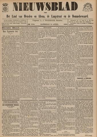 Nieuwsblad het land van Heusden en Altena de Langstraat en de Bommelerwaard 1900-04-14