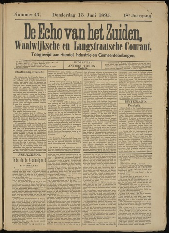 Echo van het Zuiden 1895-06-13