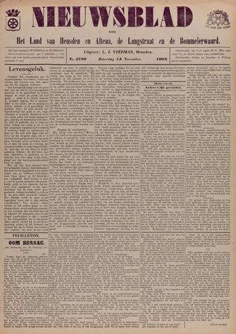 Nieuwsblad het land van Heusden en Altena de Langstraat en de Bommelerwaard 1908-11-14