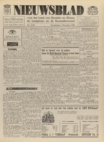 Nieuwsblad het land van Heusden en Altena de Langstraat en de Bommelerwaard 1949-12-01