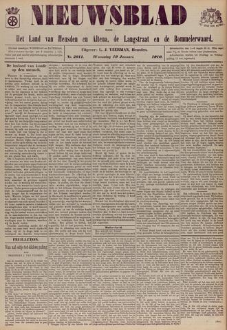 Nieuwsblad het land van Heusden en Altena de Langstraat en de Bommelerwaard 1910-01-19