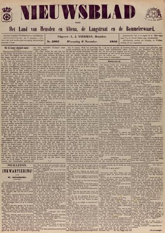 Nieuwsblad het land van Heusden en Altena de Langstraat en de Bommelerwaard 1910-11-09