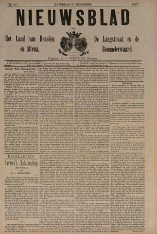 Nieuwsblad het land van Heusden en Altena de Langstraat en de Bommelerwaard 1887-12-10
