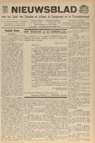 Nieuwsblad het land van Heusden en Altena de Langstraat en de Bommelerwaard 1948-11-22