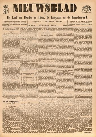 Nieuwsblad het land van Heusden en Altena de Langstraat en de Bommelerwaard 1905-02-01