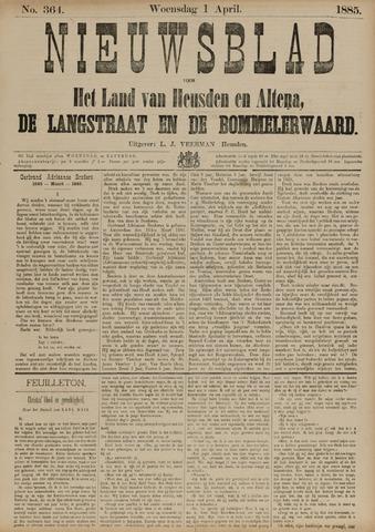 Nieuwsblad het land van Heusden en Altena de Langstraat en de Bommelerwaard 1885-04-01