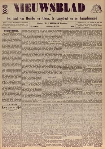 Nieuwsblad het land van Heusden en Altena de Langstraat en de Bommelerwaard 1911-06-03