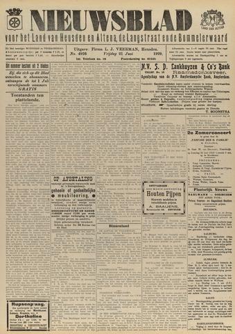 Nieuwsblad het land van Heusden en Altena de Langstraat en de Bommelerwaard 1929-06-21