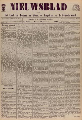 Nieuwsblad het land van Heusden en Altena de Langstraat en de Bommelerwaard 1910-09-17