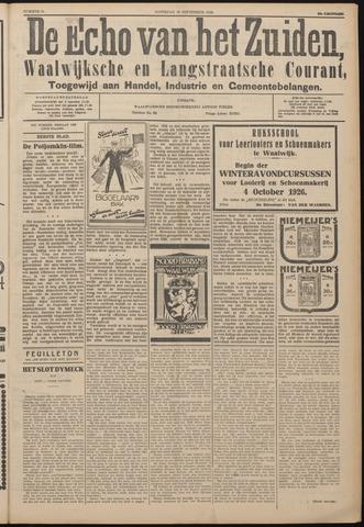 Echo van het Zuiden 1926-09-18