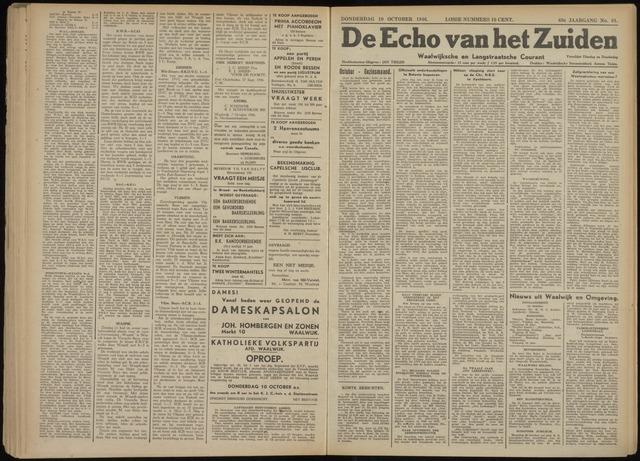 Echo van het Zuiden 1946-10-10