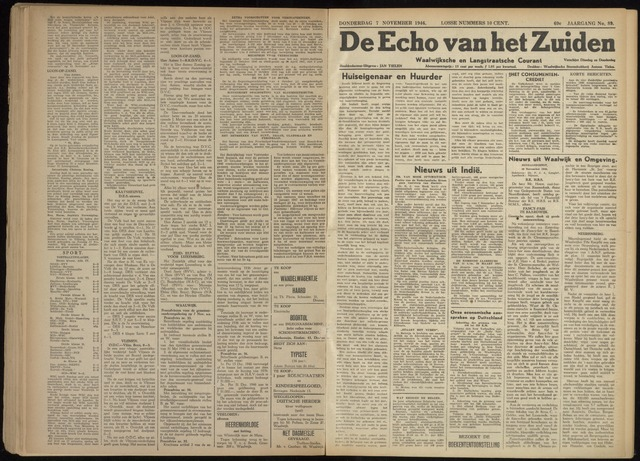 Echo van het Zuiden 1946-11-07