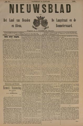 Nieuwsblad het land van Heusden en Altena de Langstraat en de Bommelerwaard 1888-01-14