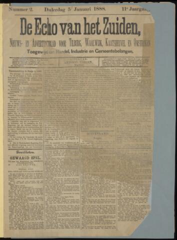 Echo van het Zuiden 1888-01-05