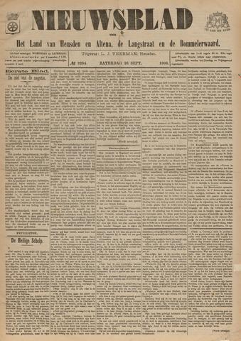 Nieuwsblad het land van Heusden en Altena de Langstraat en de Bommelerwaard 1903-09-26