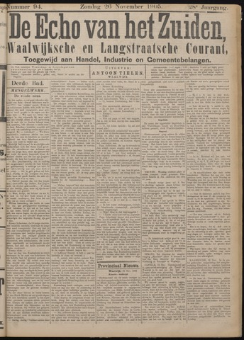 Echo van het Zuiden 1905-11-26