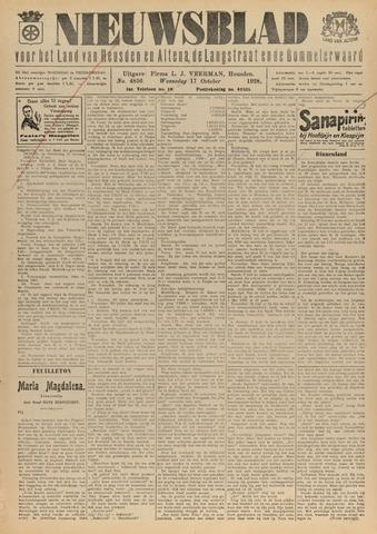 Nieuwsblad het land van Heusden en Altena de Langstraat en de Bommelerwaard 1928-10-17