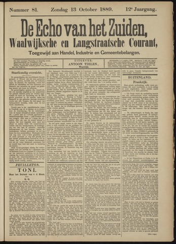 Echo van het Zuiden 1889-10-13