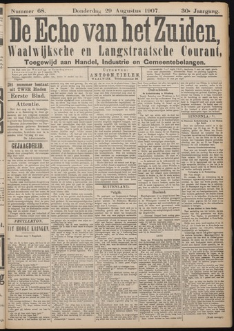 Echo van het Zuiden 1907-08-29