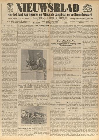 Nieuwsblad het land van Heusden en Altena de Langstraat en de Bommelerwaard 1943-07-23