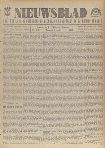 Nieuwsblad het land van Heusden en Altena de Langstraat en de Bommelerwaard 1919-04-09