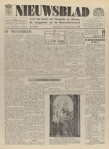 Nieuwsblad het land van Heusden en Altena de Langstraat en de Bommelerwaard 1949-09-22