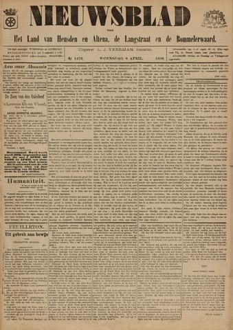 Nieuwsblad het land van Heusden en Altena de Langstraat en de Bommelerwaard 1896-04-08